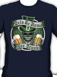 Leprechaun Skull 1: Erin Go Home Yer Drunk 2 T-Shirt
