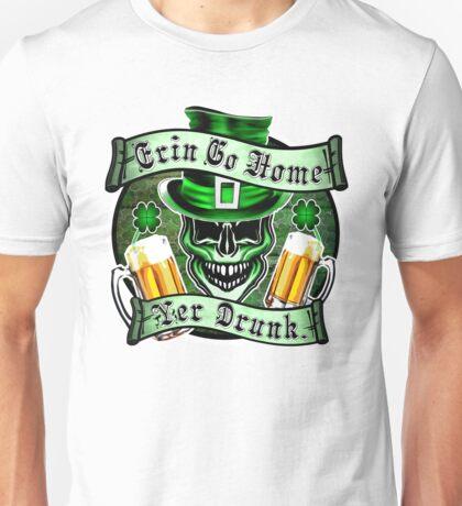 Leprechaun Skull 1: Erin Go Home Yer Drunk 2 Unisex T-Shirt