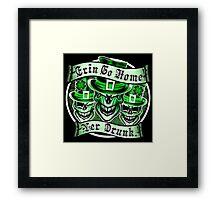Leprechaun skull Trio: Erin Go Home, Yer Drunk 2 Framed Print