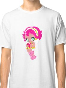 Cute funny girl with a heart Classic T-Shirt