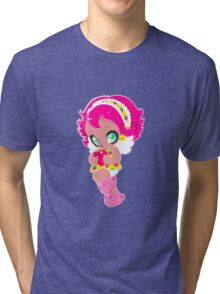 Cute funny girl with a heart Tri-blend T-Shirt