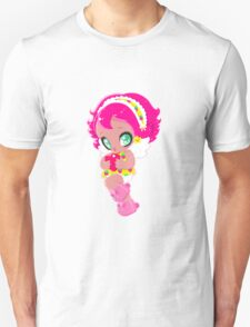 Cute funny girl with a heart Unisex T-Shirt