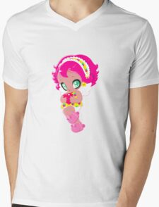 Cute funny girl with a heart Mens V-Neck T-Shirt