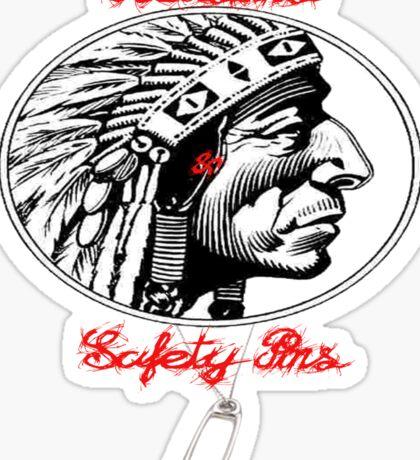 Redskins & Safetypins Sticker