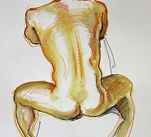 Sitting man, back by Franco Coluzzi