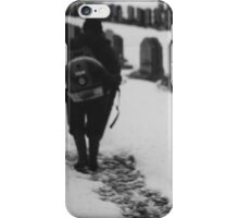 MAN IN SNOWY CEMETERY  iPhone Case/Skin