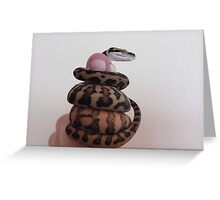 The little Darwin Python: Thumbs up Greeting Card