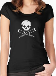 Try, try, try. Extreme sports SKULL Women's Fitted Scoop T-Shirt