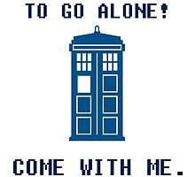 It's Dangerous To Go Alone Take Tardis by HiddenCorner