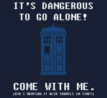 It's Dangerous To Go Alone Take Tardis Kids Clothes