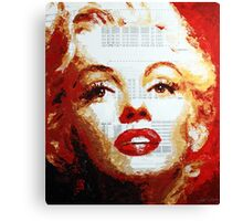 Marilyn - Blue Print Canvas Print