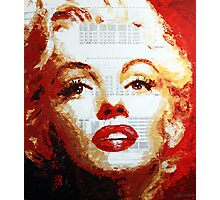 Marilyn - Blue Print Photographic Print