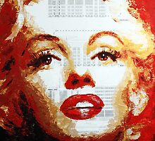 Marilyn - Blue Print by HAVI Art