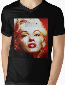 Marilyn - Blue Print Mens V-Neck T-Shirt