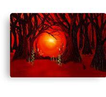 The Dark Dark Woods Canvas Print