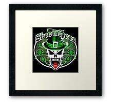 Leprechaun Skull 2.1: Shenanigans Framed Print