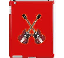 Double red vintage gibson sg iPad Case/Skin