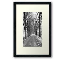 Winter road, Jizera mountains, Czech Republic Framed Print