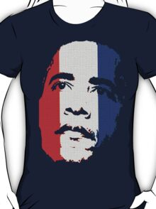 Obama Face Red White and Blue T-Shirt