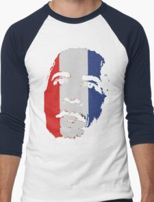 Obama Face Red White and Blue Men's Baseball ¾ T-Shirt