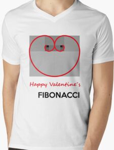 Happy Valentine´s Fibonacci Mens V-Neck T-Shirt