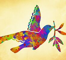 Peace Dove Art by Christina Rollo