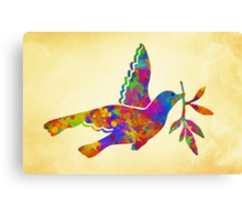 Peace Dove Art Canvas Print