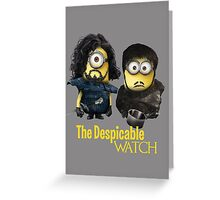 Jon Snow and Sam Tarly Minions  Greeting Card