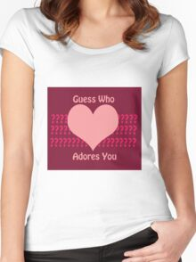 Guess Who....(Valentines) Women's Fitted Scoop T-Shirt