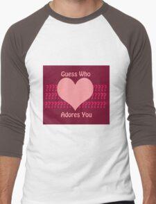 Guess Who....(Valentines) Men's Baseball ¾ T-Shirt