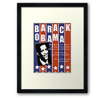 Barack Obama Change Speech  Framed Print