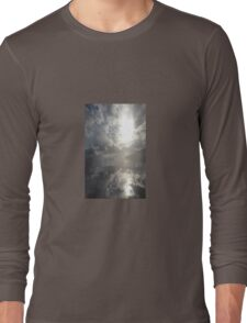 Reflections After The Storm - Abstract Seascape Long Sleeve T-Shirt