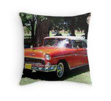 1955 Chevrolet Bel-Air Throw Pillow