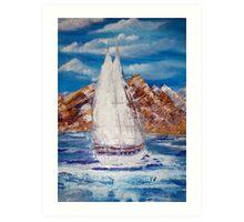 Nomadic in full sail oil painting by pallette-knife Art Print