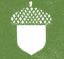 Small Green Acorn Sticker