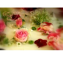 Thank You - Pretty Flowers - JUSTART ©  Photographic Print