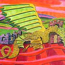 219 - THE BRIGHTON DRAGON - DAVE EDWARDS - COLOURED PENCILS - 2008 by BLYTHART