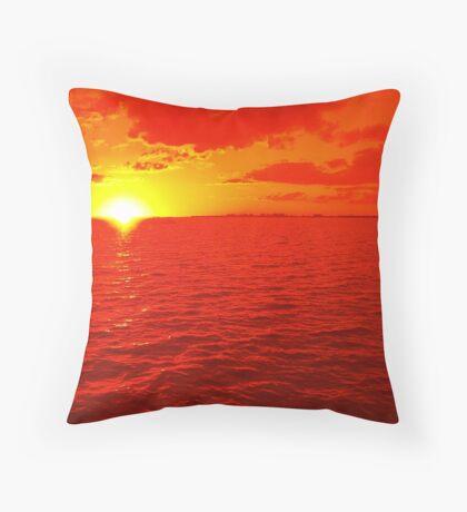Melting Sun Throw Pillow