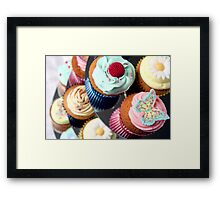 Cupcake Tier - lots of lovely cupcakes Framed Print