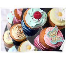 Cupcake Tier - lots of lovely cupcakes Poster
