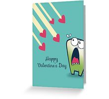 LOL funny scared monster anti Valentines Greeting Card
