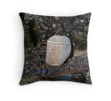 Stone with Cross Throw Pillow