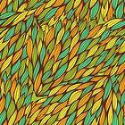 Hand drawn swirly pattern by Patternalized