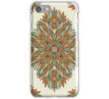 Orange and grey ornamental rectangles iPhone Case/Skin