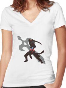 Lon'Qu - Sunset Shores Women's Fitted V-Neck T-Shirt