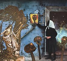 Baba Yaga Gives Vasilisa the Beautiful The Power To Blow The Heads Off Her Foes by starcrow