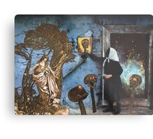 Baba Yaga Gives Vasilisa the Beautiful The Power To Blow The Heads Off Her Foes Metal Print