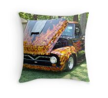 Flaming Hot 1956 Ford Truck Throw Pillow