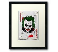 The Joker Card Framed Print