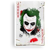The Joker Card Metal Print